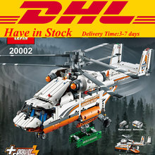 In Stock1060 PCS DHL LEPIN 20002 Technic Heavy Lift Helicopter Building Blocks Set Minifigures Bricks Christmas Gift Clone 42052