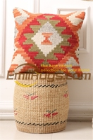 Kilim shabby red cushion cover pastoral style pillow Postu wool handlines modern in appearance and durability BRIC6B 1gc131yg4