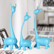 3pcs/set Resin Deer Family craft Figurines & Miniatures Elephant resin Crafts wedding gifts Creative Home Decor accessories
