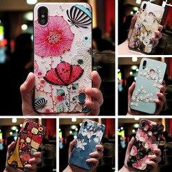 Для Huawei Honor 10i 20e чехол 3D рельеф животное цветок с тиснением и изображением крышка для Huawei честь 10i 10 Я Honor10i HRY-LX1T Черный силиконовый чехол