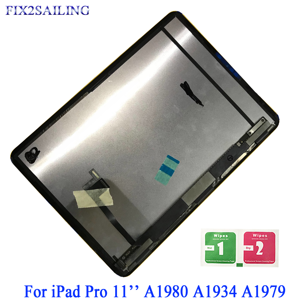 LCD Display For Apple iPad Pro 11 A1980 A1934 A1979 LCD Display Digitizer Sensors Assembly Panel Replacement For Ipad Pro 11LCD Display For Apple iPad Pro 11 A1980 A1934 A1979 LCD Display Digitizer Sensors Assembly Panel Replacement For Ipad Pro 11