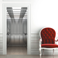 Elevator Style 3D Effect Wall Stickers Retro Poster PVC Waterproof DIY Decal Wallpaper for Living Room Bedroom Home Decoration