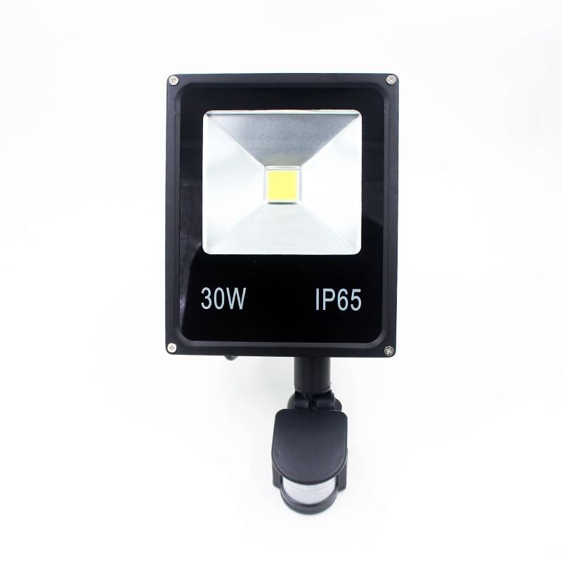 Hot Sale! 85-265V 30W Led Flood Light Led Spotlight New Type Black Shell PIR Motion Sensor Induction Sense Led Lamp hot sale prdl18 7dn lengthen type