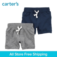 2pcs Soft Cotton Functional Pockets Pull On Shorts Carter S Baby Boy Spring Summer Clothing 126H212