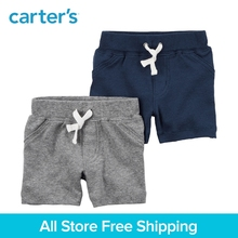 2pcs soft Cotton Functional pockets Pull-On Shorts Carter's baby boy spring summer clothing 126H212