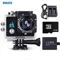 Wi-fi Câmera de Esportes Ao Ar Livre À Prova D' Água Da Câmera de 170 Graus lente Grande-Angular Ultra HD 4 K Câmera de Vídeo 2.7K @ 30fps 1080 P Câmera