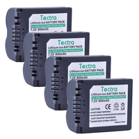 Tectra 4PCS CGA S006 CGA S006 DMW BMA7 Li ion Camera Battery for Panasonic Lumix DMC FZ7 FZ8 FZ18 FZ28 FZ30 FZ35 FZ38 FZ50