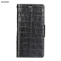 Hot Genuine Leather Crocodile Grain Magnetic Stand Flip Cover For HTC U11 U11 Life U11 Plus