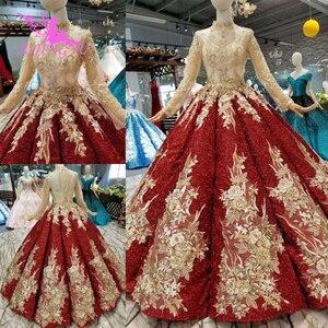 Image 2 - Aijingyu Trouwjurken 2021 2020 Plus Size Online Jassen Met Prijs Lace Sexy Portugees Gown Lange Koord Kant Voor Bruiloft jurk