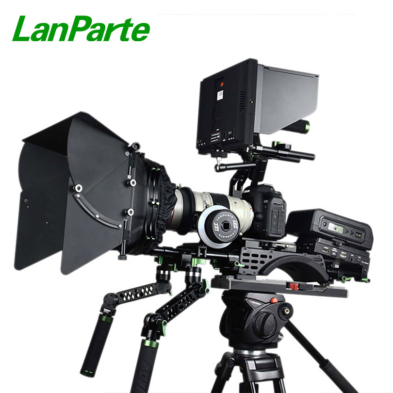 LanParte Universal Camera Rig V2B for <font><b>Canon</b></font> <font><b>5D</b></font> Mark II IV 70D 80D C100 for DSLR Camera <font><b>Accessories</b></font> image