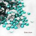 Green Zircon Glue On Rhinestone Fashion Product 3D Nail Art Decorations Flatback Rhinestones Strass Stones