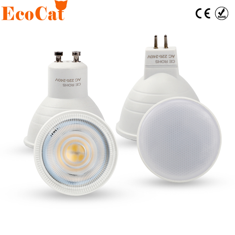 LED Spot light GU10 6W 220V MR16 led lamp COB Chip Beam Angle 120 2W 4W Spotlight LED bulb For Downlight Table Lamp
