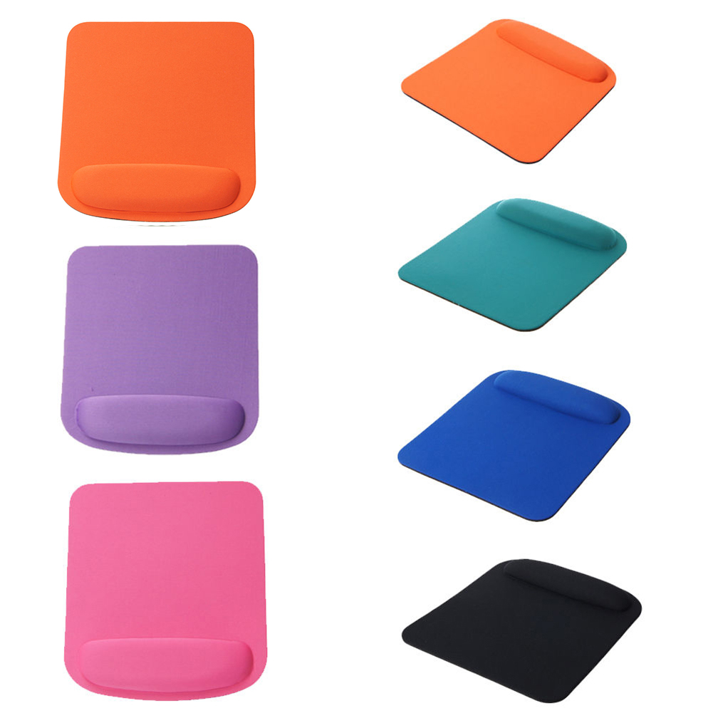 Anti-Slip Solid Color Square Mouse Pad Soft Wrist Rest Design PC Gaming Mousepad
