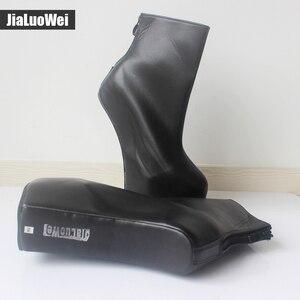 Image 5 - Jialuowei 20cm גבוהה העקב 5cm פלטפורמה סקסי פטיש ללא עקבי מוזר סגנון בלעדי ponying העקב חזרה zip אופנה קרסול מגפי בלט