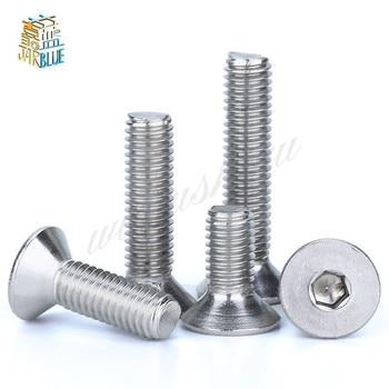 304 M6 M8 * 6/8/10/12/-50/80/100 tornillo Hexagonal avellanado tornillo Hexagonal tornillo de cola plana