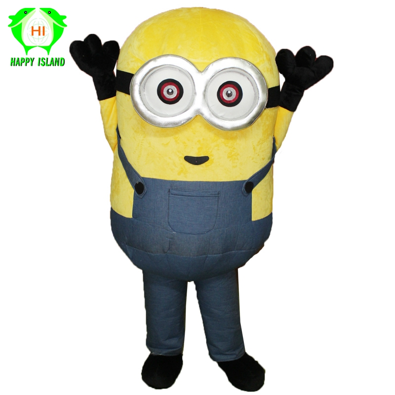 Adult Yellow Minion Inflatable Mascot Costumes Halloween Christmas Party Costume Anime Cartoon Cosplay Costume
