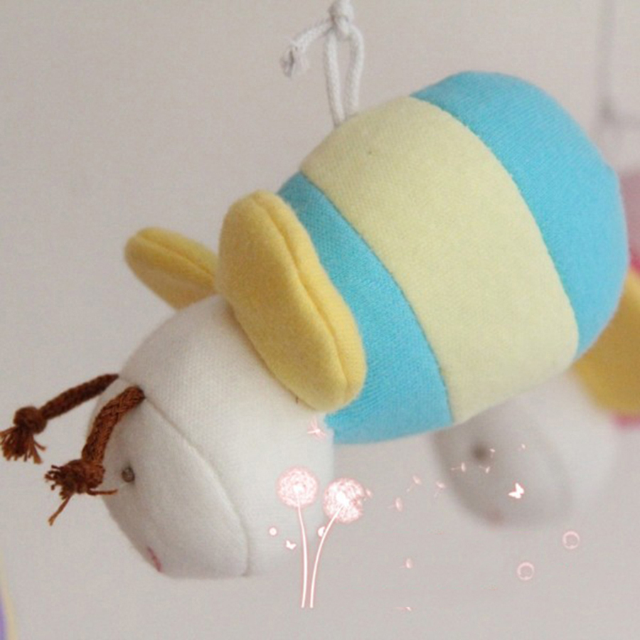 Musical Toy For Baby Bed Bell Plastic Rattles Wind Bell 0-12 Months Mobility On The Bed Stuffed Toys For Newborn Babies 505007 newborn baby bed rotary music bell toy baby stroller toy rattles accessories pendant