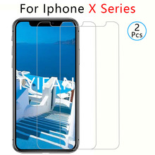 2pcs tempered glass for apple iphone x s r xs max xr protective glass screen protector on iphonex iphonexs iphonexr xsmax tremp