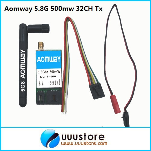 Aomway 5.8G 500mW VTX audio and video transmission AV TX (suit for Fatshark) for FPV aomway fpv 5 8g 500mw av transmitter and receiver for fatshark rc model free shiping