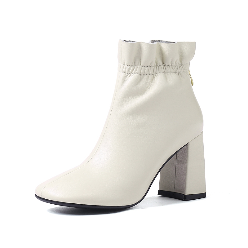 Pie Grueso white Talón Zapatos Sólido 6cm Del Dedo white Zipper black Cat Negro Cuadrados Bottes A1435 Tobillo Botas 6cm Fur Mujer Feminino black Reave 8cm Invierno Black 8cm Blanco 6cm Fwn0aqz8