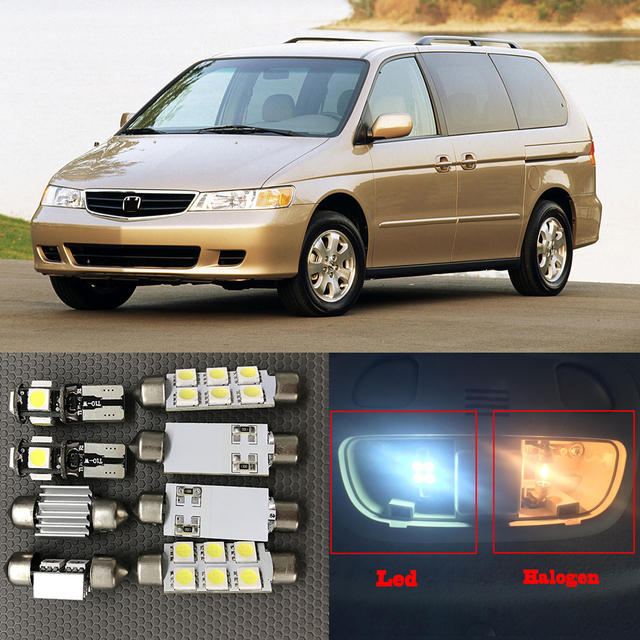 13pcs Xenon White Led Light Bulbs Interior Package Kit For 1999 2004 Honda Odyssey 12v Auto Map Dome License Plate Lamp