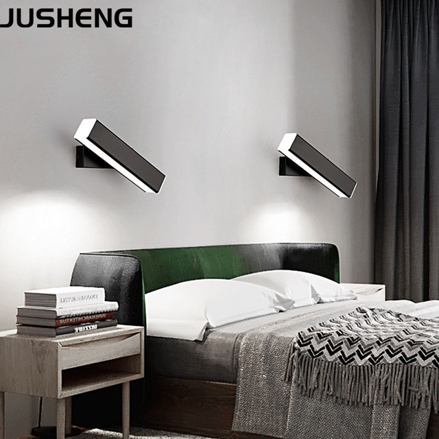 . US  19 99 30  OFF Nordic Black   White LED Wall Lights with Rotated Beam  Angle Decor modern Hotel Stair Lights in Bedroom Bedside in LED Indoor Wall