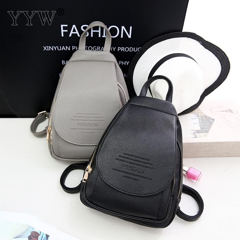 Solid PU Leather Small Backpack Female School Backpacks for Children a case for Phone & Purse High Quality Ladys Travel BagsSolid PU Leather Small Backpack Female School Backpacks for Children a case for Phone & Purse High Quality Ladys Travel Bags