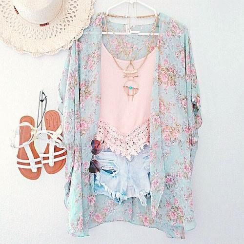 Nieuwkomers 2018 Dames Blouses Plus Maten Bloemen Vest Dames Tops Chiffon Batwing Blouse Kimono Vest Chemise Femme XXXL