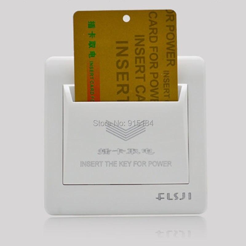 10 Stücke 86*86mm High Grade Hotel Karte Schalter 220 V/25a, Energiesparende Schalter, Einfügen Schlüssel Für Power, 15 Zweite Zeit Verzögerung