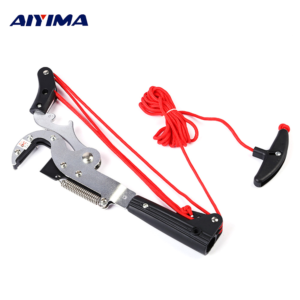 Aiyima Four Pulleys Pruning Scissors Garden Tools High Branch Cutter Gardening Outdoors Tree Trimmer Pruner Handle Bonsai Tools цена