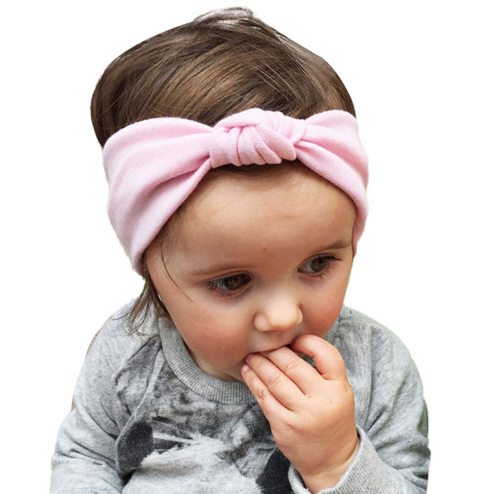 2017 Baby girl headband Toddler Cute Girls Kids Bow Hairband Turban Knot Rabbit Headband Headwear for girl hair accessories 13 colors lovely girls print floral rabbit ears hairband turban knot headband hair band accessories