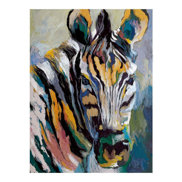 Hand Painted Abstract Zebra Pictures Canvas Oil Painting ...