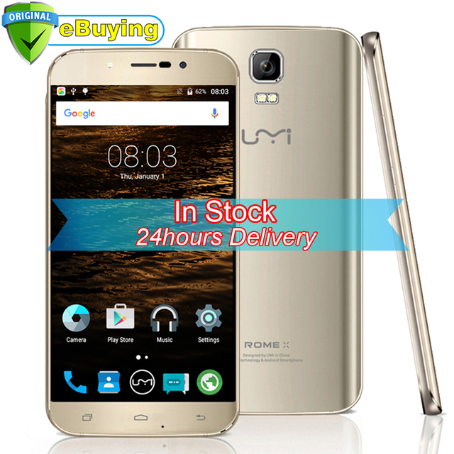 """in Stock UMI ROME X Android 5.1 Smartphone MTK6580 Quad Core Cellphone 5.5"""" HD Screen 1G RAM 8G ROM Umidigi 3G Mobile Phone"""