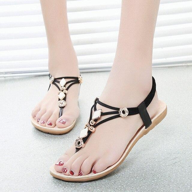 f0c6fc9ba668d6 Women s sandals Summer Women Flats Sandals Bohemia Style Ladies Sandals