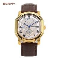 Берни часы мужчин лучший бренд роскошных механические мужские часы relogio masculino коль saati reloj hombre автоматический механизм AM050