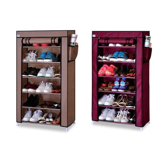 Nonwoven Shoes Rack Organizer Shelf 6 Tier Shoe Tower Shelf Storage Cabinet  Shelf Shoe Cabinet