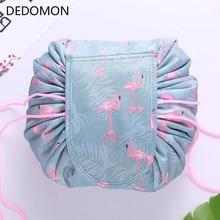 Animal Flamingo Cosmetic font b Bag b font Professional font b Drawstring b font Makeup Case