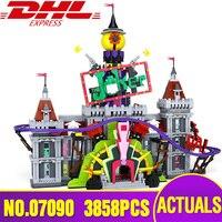 Лепин 07090 Горячая продажа супер герой серии Джокера усадьба комплект Legoing 70922 Строительные блоки Кирпич Рождество Дети мальчика подарок