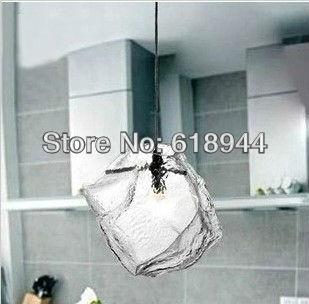 Single Head Modern Pendant Light Ice Cube Light Pendant Lights for Home Glass Pendant Lamp Dining Room Restaurant Bar Lighting