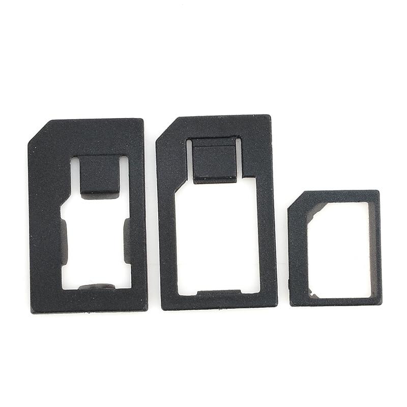 3 in 1 Nano Micro Standard SIM Card Adaptor Adapter & Tools For Iphone 4 4S 5 Black XDA1174