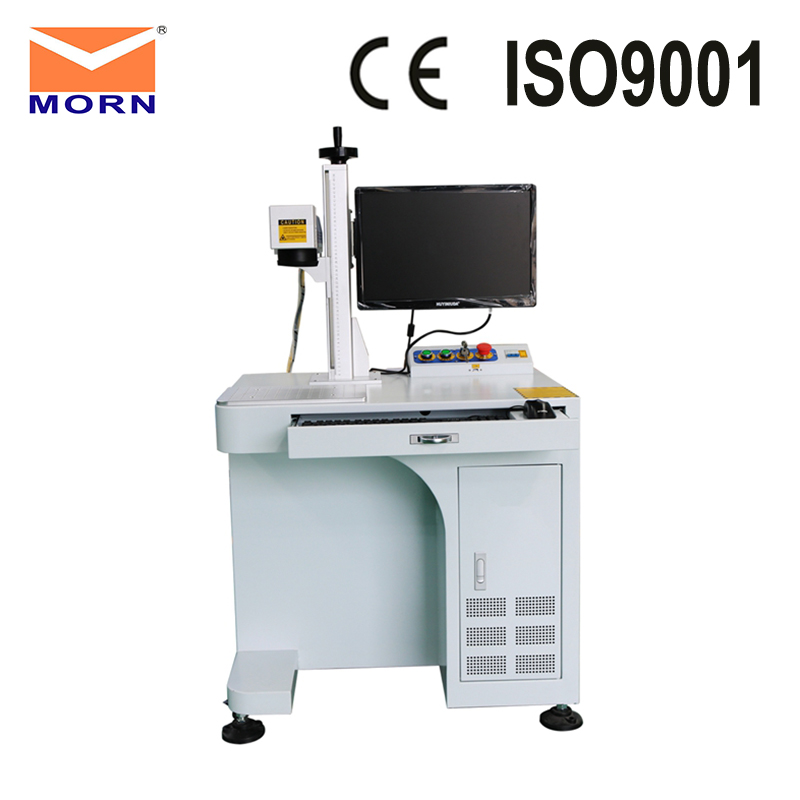 Desktop 50 watt MAX laser source fiber engraving and cutting machine for jewerly with EZCAD software and air cooling model