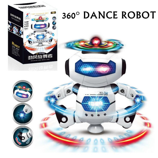 Baby Toys Cute Electric Music Light Dancing Robot Smart Toys Space Walking Toys For Children Kids