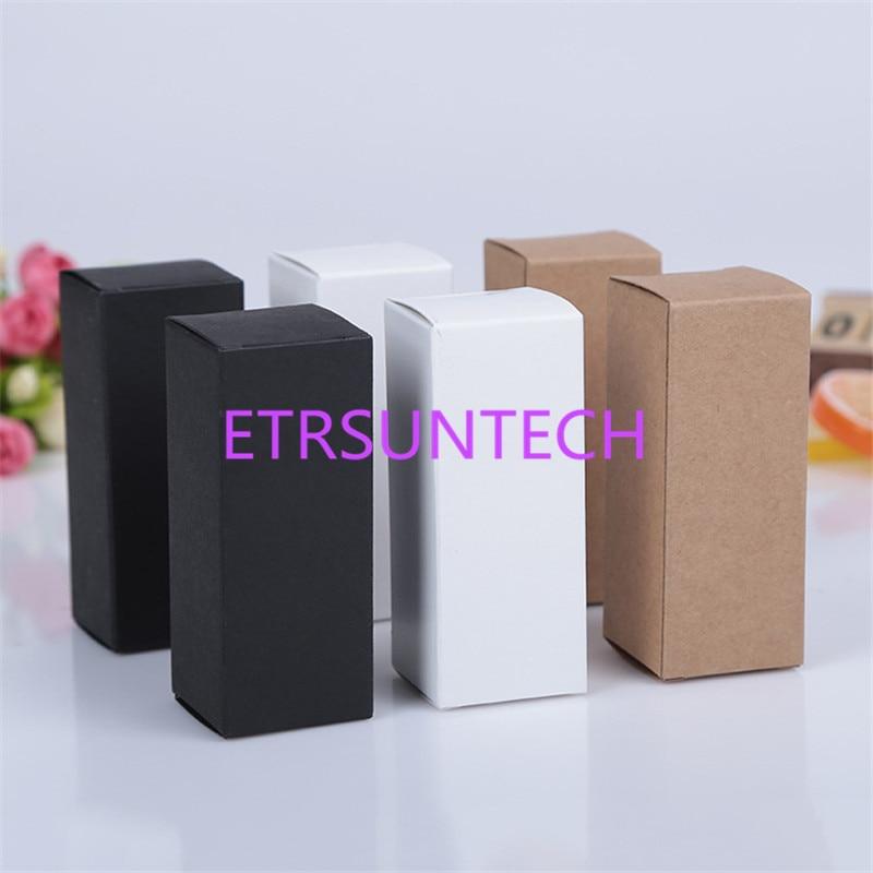 13 size Black white Kraft Paper cardboard box Lipstick Cosmetic Perfume Bottle Kraft Paper Box Essential