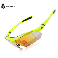 WOSAWE bike glasses for men polarized sport sunglasses 5 lens cycling glasses windproof moto goggles polycarbonate bicycle gafas
