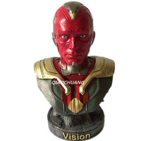 Captain America Civil War Statue Avengers Vision Bust Superhero Half Length Photo Or Portrait Resin Collectible