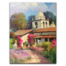 100% hand painted oil painting Home decoration high quality landscape knife painting pictures     DM16072113
