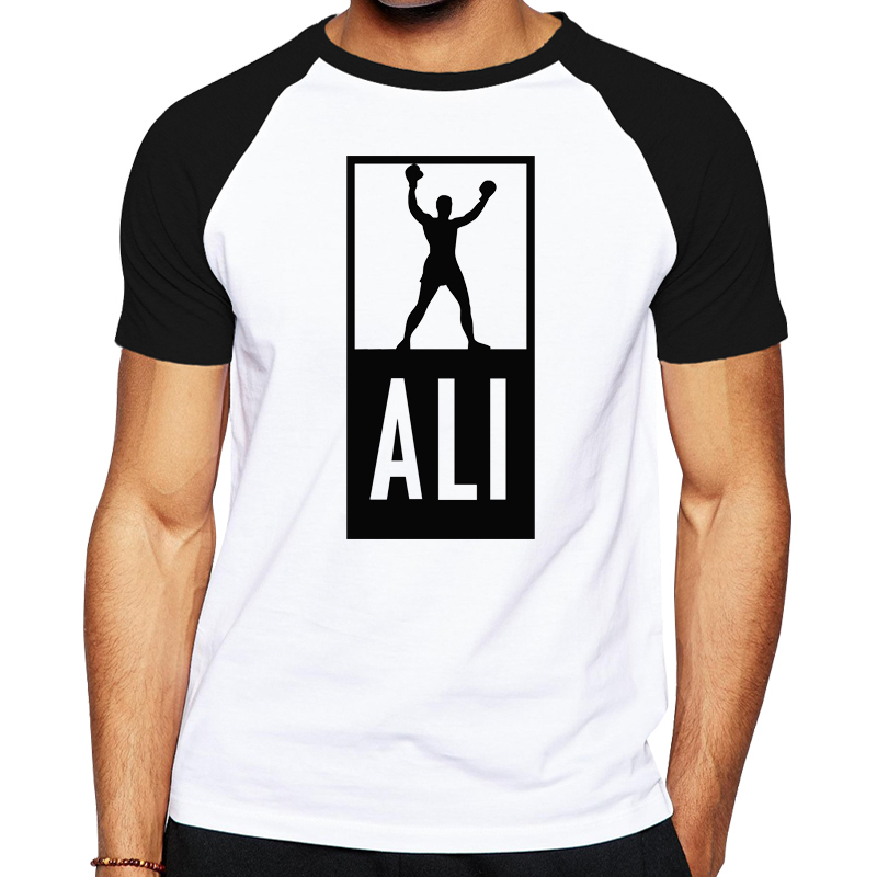 summer mens muhammad ali t shirts men fitness casual shirt. Black Bedroom Furniture Sets. Home Design Ideas