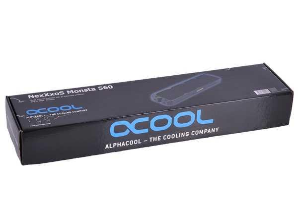 Fila freddo del radiatore di rame Alphacool NexXxoS Monsta Completa Rame 560 millimetri