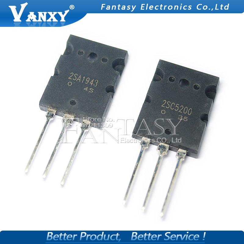 6PCS 2SA1943 TO-3P 2SC5200 TO-3PL=3pair ( 3PCS C5200 + 3PCS A1943 )