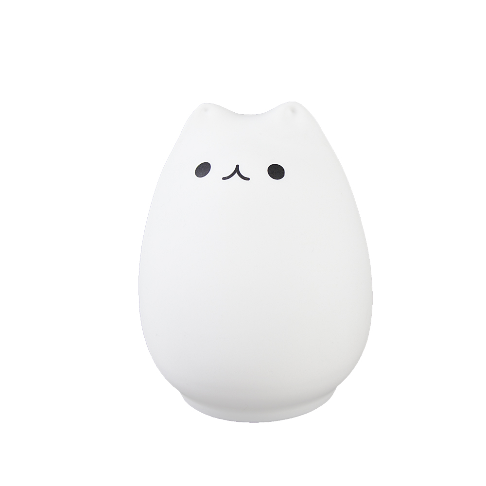 Squishy Cat Night Light : Rechargeable Cat Light Children Animal USB Night Light Silicone Soft Cartoon Baby Kids Nursery ...